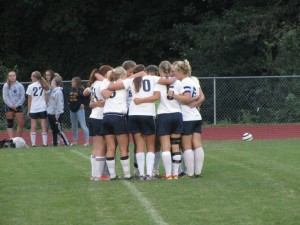 New Hope-Solebury Girls' soccer 2013 Huddle