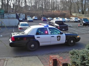 Traffic stop by New Hope police at 11 a.m on Dec. 27 (Photo - Charlie Sahner)
