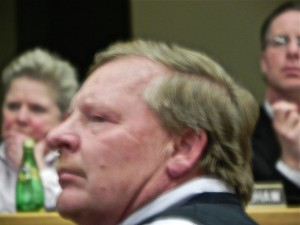 Edward Breen at Borough Council meeting Feb. 18 (Photo: Charlie Sahner)
