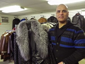 Nadeem Lou and his wares on South Main Street