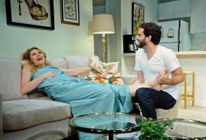 Nadia Bowers and Michael Nathanson in 'Chapter Two' at Bucks County Playhouse
