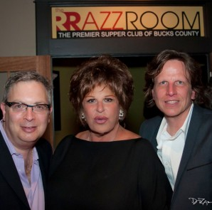 Lainie Kazan joins RRazz Room co-owners Rory Paull (L) and Robert Kotonly (R) after her opening night engagement (Photo: Daniel T Gramkee)