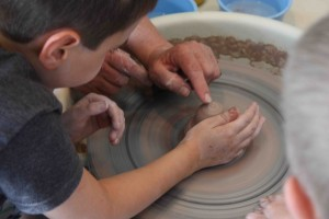 "A new way to ""play in the mud:"" younger campers experiment in this summer's first 'Play in Clay' camp at Tyler Park Center for the Arts"