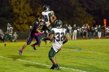 New Hope's Steve Ratigan attempts to thwart interception by Sterling Williams