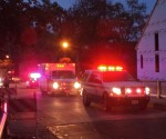 Police and EMS vehicles respond to report at Canal Street development Oct. 11