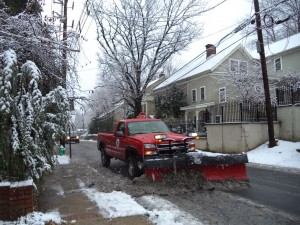 Plowing slush on Wednesday