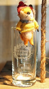 """Share a """"glass of friendship"""" with this adorably fuzzy fox ornament (Photo: Barbara L. Peterson, portfolio b.)"""