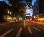 Lambertville night scene by Scott Riether