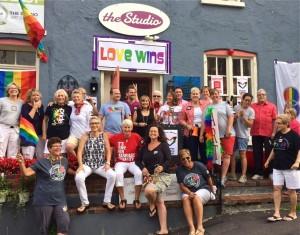 Celebration on West Mechanic Street (Photo: David Morgan)