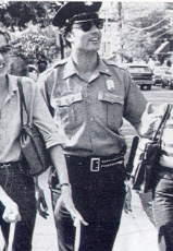Ferrari in 1980 as a New Hope police officer.