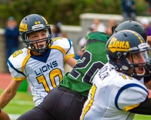 Freshman kicker Logan Waterman boots his sixth extra point Saturday.