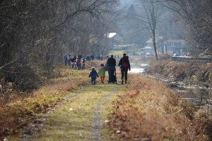 Hikers at the 2012 First Day Hike on Delaware Canal State Park towpath in Easton. (Photo: Irene Tatariw Trindle)