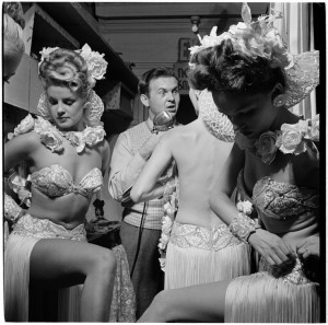 """Backstage at the Copa"" (Photo by Stanley Kubrick for Life Magazine, 1948)."