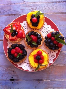 Assorted Fruit Tartlets.