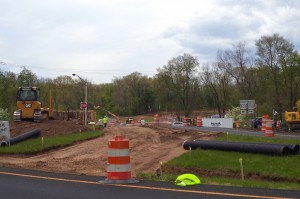 Site of the new U.S. 202 intersection.