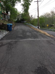 This section of Stony Hill Road may go one-way.