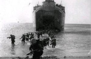 Americans landing at Inchon during the Korean War.