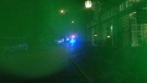 New Hope Police vehicle parked opposite Logan Inn Saturday night.