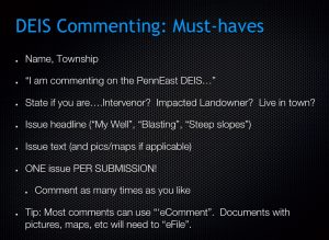 Slide outlining how to comment to FERC from Mike Spille's PowerPoint (Mike Spille)