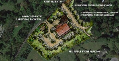 Proposed West End Farm Distillery and Restaurant site plan.
