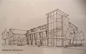 The original Playhouse Inn design from 2014 didn't fly.