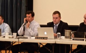 New Hope-Solebury School Board President Neale Dougherty (L) and School Superintendent Steven Yanni.