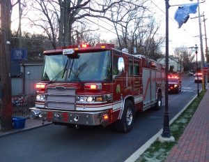 Midway Volunteer Fire Company arrived to help out.