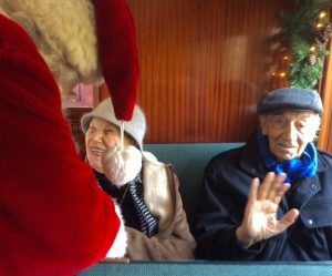 "Grace Lanza, 95, tells Santa she's been ""pretty good"" all year."