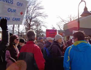 Rallying in Lambertville.