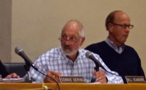 New Hope Borough Council President Bill Scandone (L) and Mayor Larry Keller. (file)